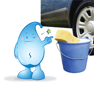 Wash your cars with a water bucket and towel, instead of a running hose.